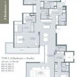 Type C - 4 bedroom + studio