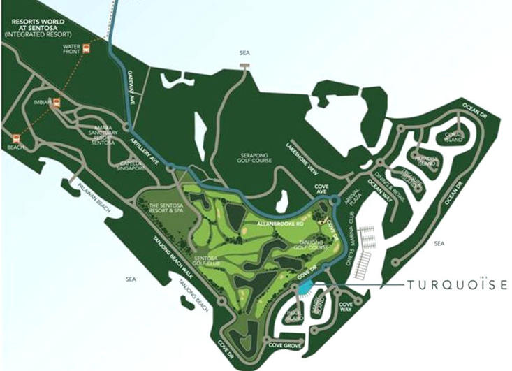 Turqoise location map
